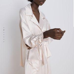 NWT Zara Satin Shirt
